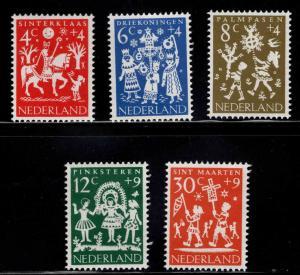 Netherlands Scott B358-B362 MNH** Holiday Folklore set