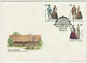 Lithuania 1992 Lithuanian Folk Museum of Life People Stamps FDC Cover Rf 29602