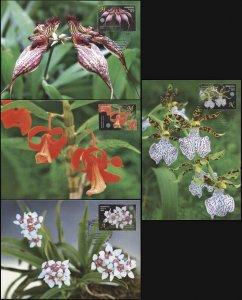 Belarus. 2016. Orchids (Mint) Set of 4 Maxi Cards