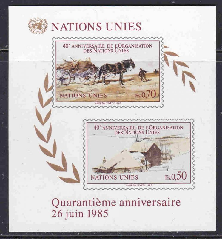 United Nations #449 (NY), 137 (G), 54 (V) Mint F-VF NH ** Andrew Wyeth Paintings