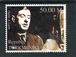 Turkmenistan 1999 CHARLES DE GAULLE 1 value Perforated Mint (NH)
