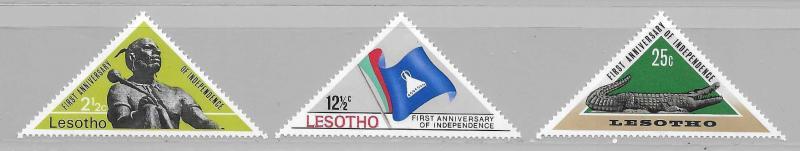 Lesotho 41-3 1967 Independence set NH
