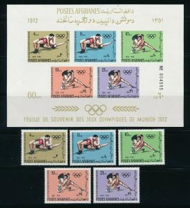 Afghanistan - Munich Olympic Games Set MNH (1972)