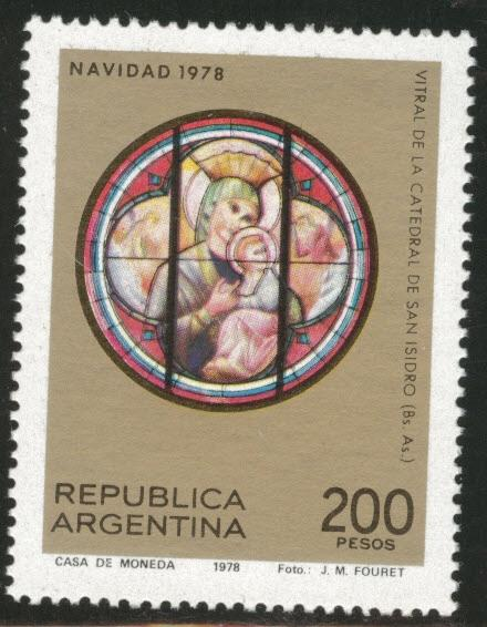 Argentina Scott 1226 MNH** Stained Glass 1978 xmas stamp