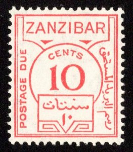 Zanzibar Scott J19 Mint never hinged.