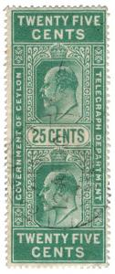(I.B) Ceylon Telegraphs : 25c (not Colombo)