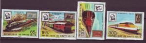 J15540 JLstamps 1979 upper volta-burkina faso set mh #501-4 trains