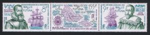 Wallis and Futuna Discovery of Horn Islands strip of 3v SG#488-490 SC#340
