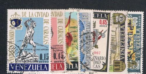 Venezuela C952-58 Set Used Founding of Caracas (V0265)