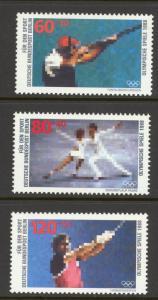 Germany Berlin Sc# 9NB254-9NB256 MNH 1988 60+30pf-120+50pf Sports