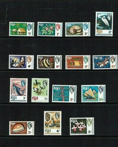 Fiji: 1968 Definitive set, to 5/-, Mint never hinged