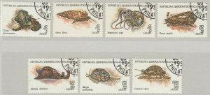 Malagasy Republic 1993 Mollusks 7 Value VF Used 11886