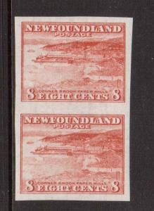 Newfoundland #209a XF/NH Imperforate Pair