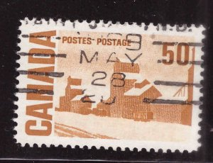 Canada Scott 465A Used stamp typical cancel