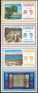 Jordan #522, strip of 4 (522a-d), MNH