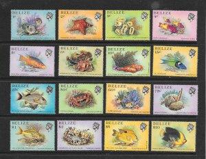 FISH - BELIZE #699-714   MNH