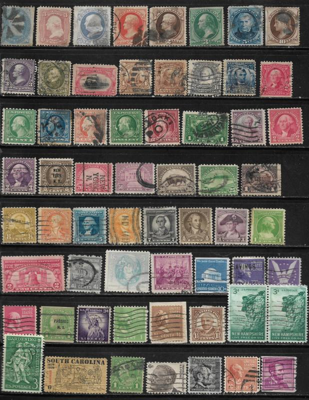 COLLECTION LOT OF 139 UNITED STATES 1861+ STAMPS 3 SCAN