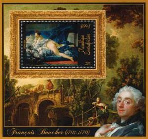 Central Africa - Francois Boucher Odalisque - Souvenir Sheet - 3H-137