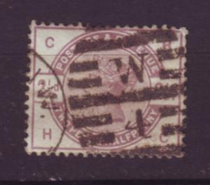J19756 Jlstamps 1883-4 great britain used #101 queen