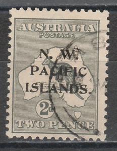 NWPI NEW GUINEA 1915 KANGAROO 2D 3RD WMK TYPE B USED