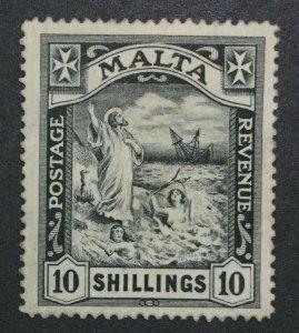 MOMEN: MALTA SG #104 1919 MULT CROWN CA MINT OG H LOT #198916-6340-2