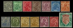 1911-23 India #80-93 King George V Wmk 39 - OGHR - F/VF+ - CV$95.00 (ESP#3845)