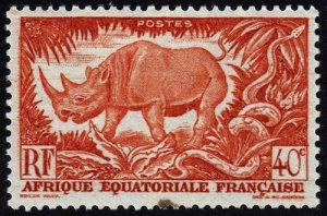 French Equatorial Africa - Scott 168 - Mint-Hinged - Spot on Front