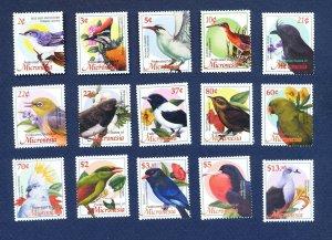 MICRONESIA - Scott 525 // 537 - FVF MNH - BIRDS - 2002