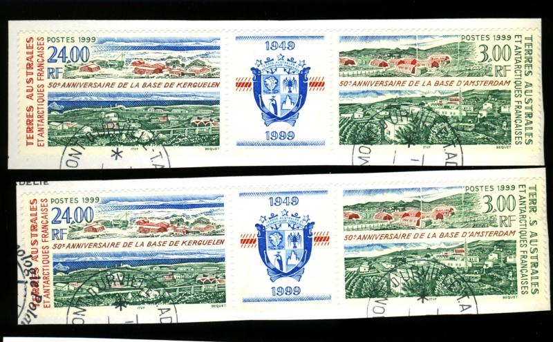 French So & Antarctic Terr #254A (2) Used VF Cat$30