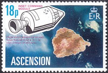 Ascension # 184 mnh ~ 18p Space Command Module, Island