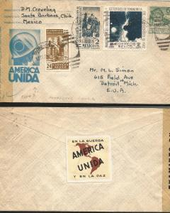 J) 1942 MEXICO, IN THE WAR UNITED AMERICA AND IN PEACE, POSTAL STATIONARY, IV CE