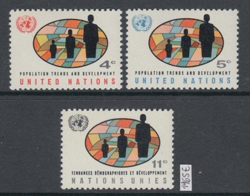 XG-X606 UNITED NATIONS - New York, 1965 Population Trends MNH Set