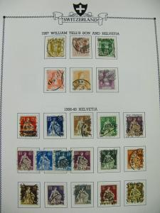 Switzerland Clean Used Stamp Collection NICE CANCELS