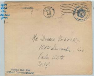 78998 - COSTA RICA - POSTAL HISTORY -  COVER : Consular Mail to USA 1944