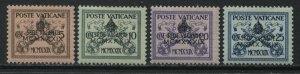 Vatican 1939 overprinted issues 5 to 25 cents mint hinged