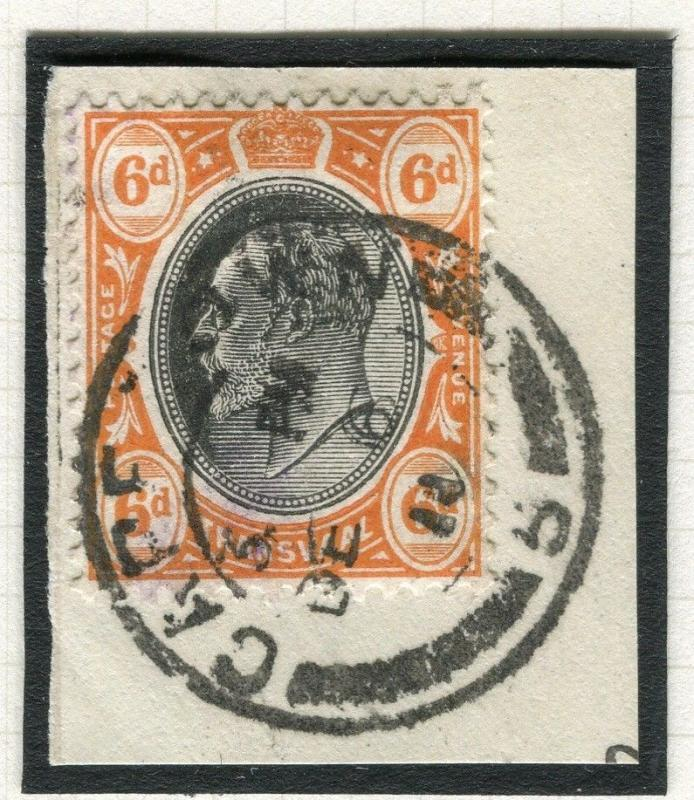 TRANSVAAL Interprovincial Period Ed VII CAPE TOWN Postmark on 6d. Piece