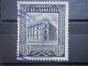 VENEZUELA, 1953, used 15c Post Office Scott 653