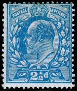 SG284 SPEC M18(3), 2½d dull blue, M MINT. Cat £22.
