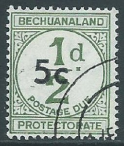 Bechuanaland Protectorate, Sc #J9, 5c on 1/2d, Used