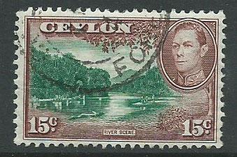 Ceylon George VI  SG 390 Used