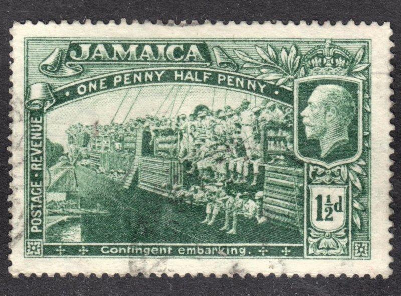 Jamaica Scott 77 wtmk 3 F to VF used.