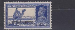 PATIALA  1937 - 38  S G  87     3A  6P  BRIGHT BLUE   MH