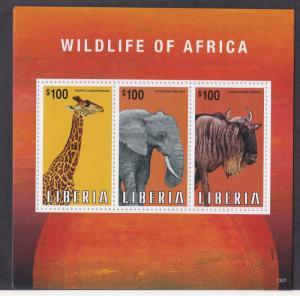 Liberia # 2852, African Wildlife, NH, 1/2 Cat.