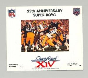 St Vincent #1413  Football Super Bowl XIV 1v M/S of 2 Imperf Chromalin Proof