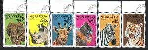 Nicaragua. 1986. 2711-16. African fauna. USED.