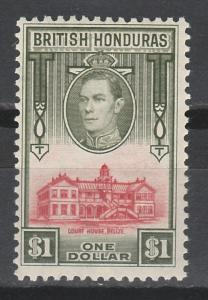 BRITISH HONDURAS 1938 KGVI COURT HOUSE $1