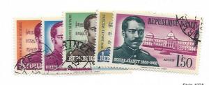 Haiti, 466-68, C166-67, Occide Jeanty CTO Singles, NH