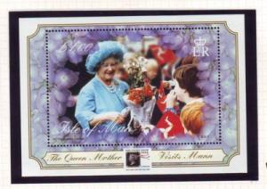 Isle of Man Sc 859a 2000 Queen Mother 100 stamp sheet NH Stamp Show ovpt