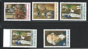 Norfolk Island    MNH SC#  392 - 396