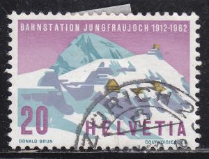 Switzerland 414 Used 1962 Jungfrau Railroad Station